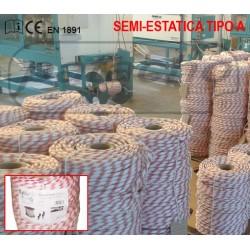 ROLLO CUERDA SEMI-ESTÁTICA TIPO A,  CERTIFICADA EN 1891, Ø 12 MM. (200 M.) - METRO LINEAL