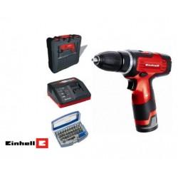 Set taladro sin cables TE-CD 12 Li t + REGALO 2 baterías y cargador + maletín + Caja de puntas Einhell