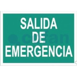 SEÑAL FOTOLUMINISCENTE SALIDA DE EMERGENCIA 297X210 MM