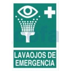 SEÑAL FOTOLUMINISCENTE LAVAOJOS DE EMERGENCIA 297X210 MM