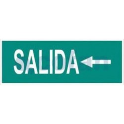 SEÑAL FOTOLUMINISCENTE SALIDA A LA IZQUIERDA 400X100 MM