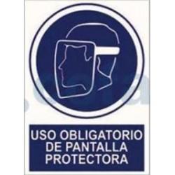 SEÑAL POLIESTILERNO USO OBLIGATORIO DE PANTALLA PROTECTORA 297X210 MM