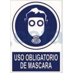 SEÑAL POLIETILENO USO OBLIGATORIO DE MÁSCARA 297X210 MM