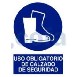 SEÑAL POLIESTILENO USO OBLIGATORIO DE CALZADO DE SEGURIDAD 297X210 MM