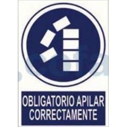 SEÑAL POLIESTILENO OBLIGADO APILAR CORRECTAMENTE 297X210 MM