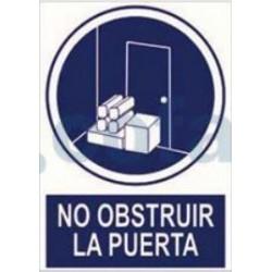 SEÑAL POLIESTILENO NO OBSTRUIR LA PUERTA 297X210 MM