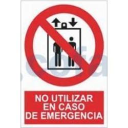 SEÑAL POLIESTILENO NO UTILIZAR EN CASO DE EMERGENCIA 297X210 MM