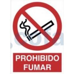 SEÑAL POLIESTILENO PROHIBIDO FUMAR 297X210 MM