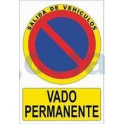SEÑAL POLIESTILENO VADO PERMANENTE 297X210 MM