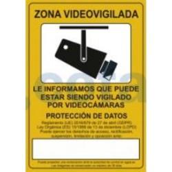 SEÑAL POLIESTILENO VIDEOVIGILANCIA 297X210 MM