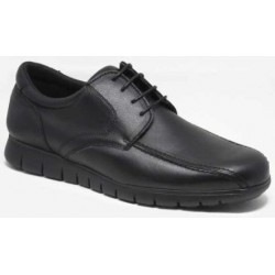 ZAPATO BLUCHER FLEXIBLE NEGRO